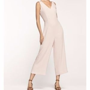 Massimo Dutti Pink V-neck Sleeveless Jumpsuit NWT